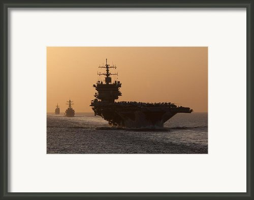 Uss Enterprise Framed Print By Mountain Dreams