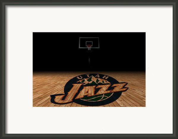 Utah Jazz Framed Print By Joe Hamilton