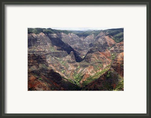 Waimea Canyon Hawaii Kauai Framed Print By Roger Bryant