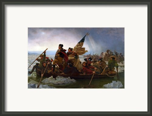 Washington Crossing The Delaware Framed Print By Emanuel Leutze