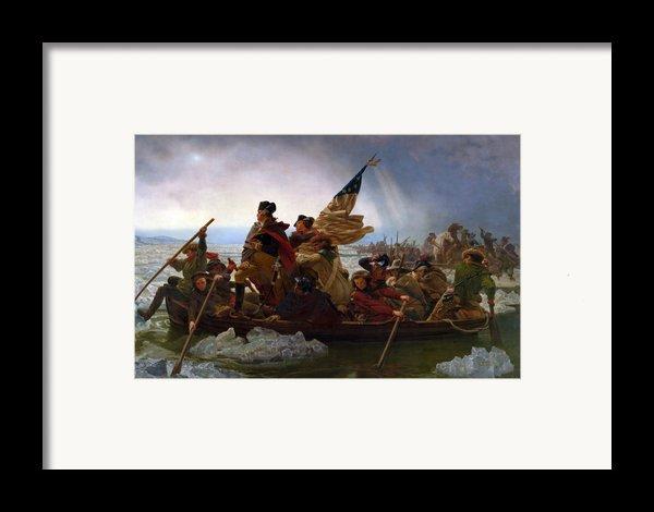 Washington Crossing The Delaware Framed Print By Emanuel Leutze