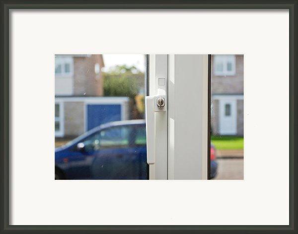 Window Lock Framed Print By Tom Gowanlock