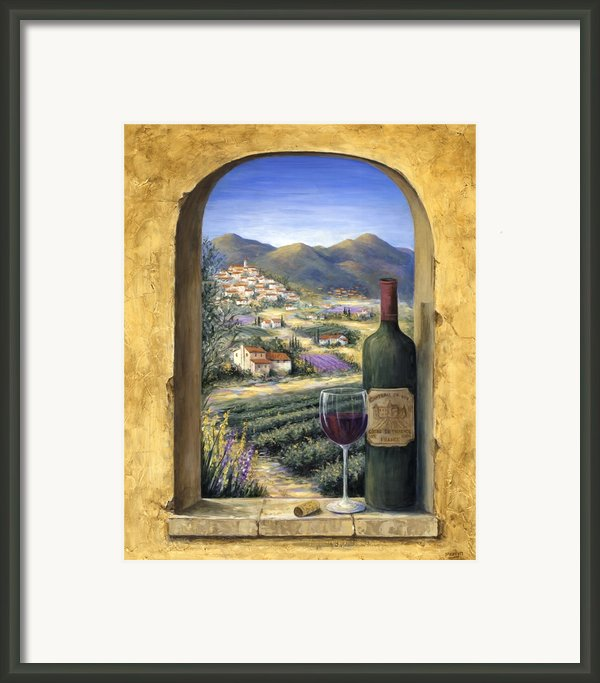 Wine And Lavender Framed Print By Marilyn Dunlap