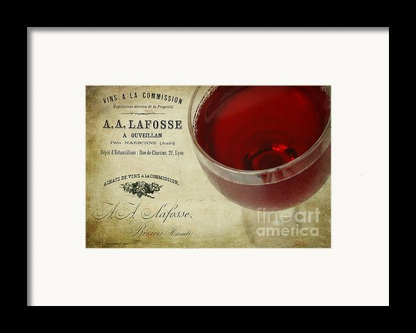 Wine Framed Print By Darren Fisher