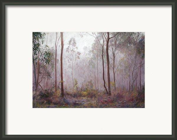 Winter At Wickham Framed Print By Lynda Robinson