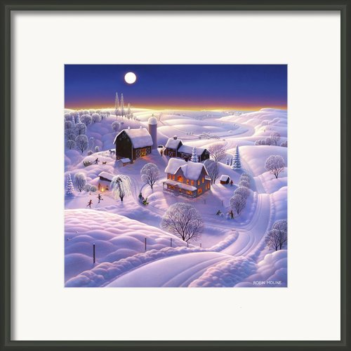 Winter On The Farm Framed Print By Robin Moline