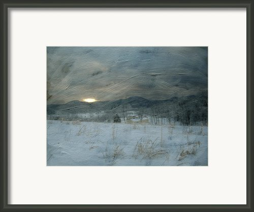 Winter Scene  Framed Print By Kathy Jennings