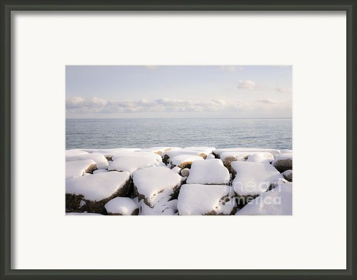Winter Shore Of Lake Ontario Framed Print By Elena Elisseeva