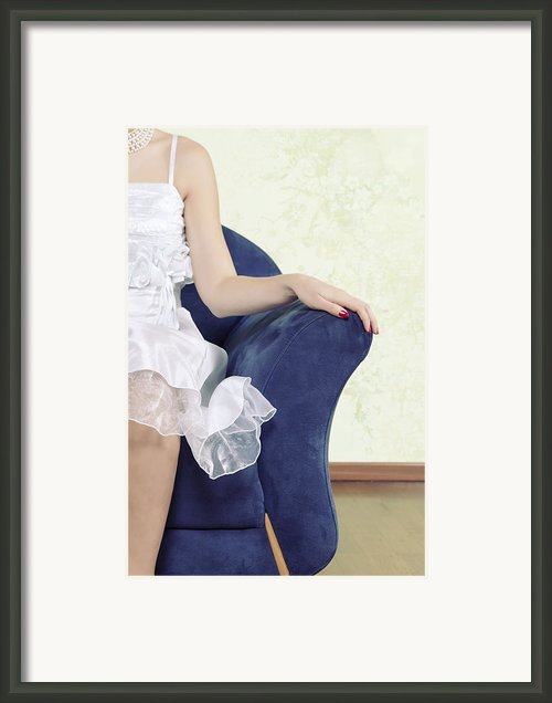 Woman On Chair Framed Print By Joana Kruse