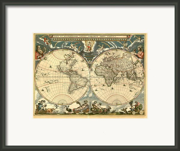 World Map Framed Print By Gary Grayson