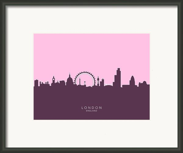 London England Skyline Framed Print By Michael Tompsett