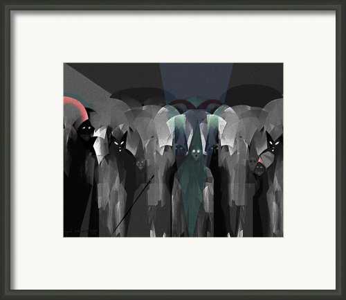127 -  Nightwalkers Dark Framed Print By Irmgard Schoendorf Welch
