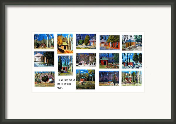 14 Works From The Golf Shed Series Framed Print By Charlie Spear