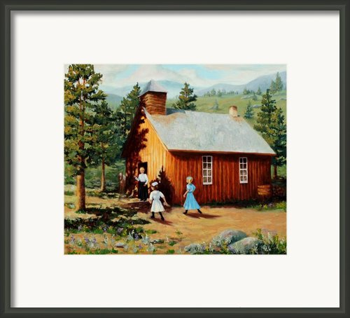 1896 School House Framed Print By Mary Giacomini