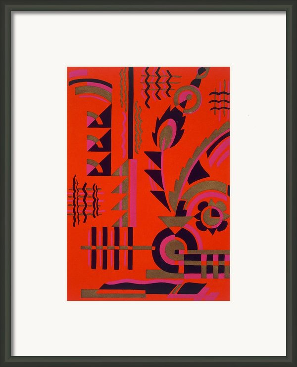 Design From Nouvelles Compositions Decoratives Framed Print By Serge Gladky