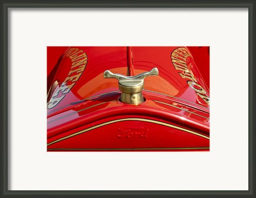 1919 Ford Volunteer Fire Truck Framed Print By Jill Reger