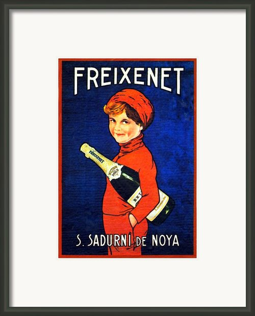 1920 - Freixenet Wines - Advertisement Poster - Color Framed Print By John Madison