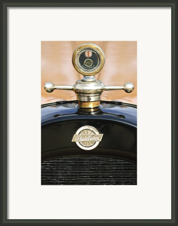 1922 Studebaker Touring Hood Ornament Framed Print By Jill Reger