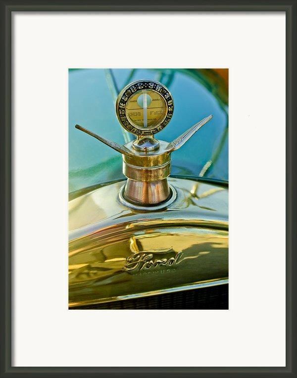 1923 Ford Model T Hood Ornament Framed Print By Jill Reger