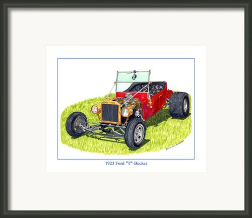 1923 Ford T Bucket Framed Print By Jack Pumphrey