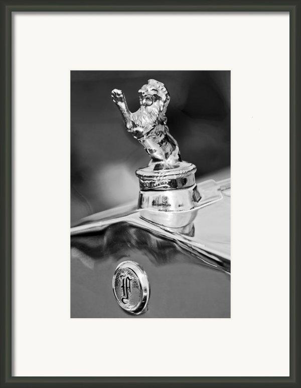 1927 Franklin Sedan Hood Ornament 2 Framed Print By Jill Reger