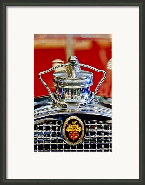 1929 Packard 8 Hood Ornament 2 Framed Print By Jill Reger