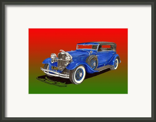 1931 Lincoln K Four Door Convertible Framed Print By Jack Pumphrey