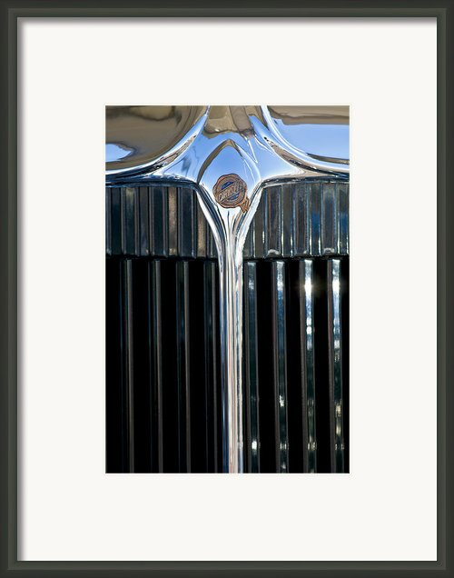 1932 Chrysler Hood Ornament Framed Print By Jill Reger