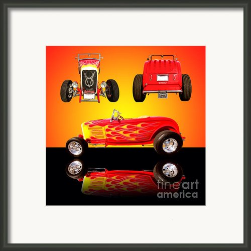 1932 Ford Flaming Hotrod Framed Print By Jim Carrell