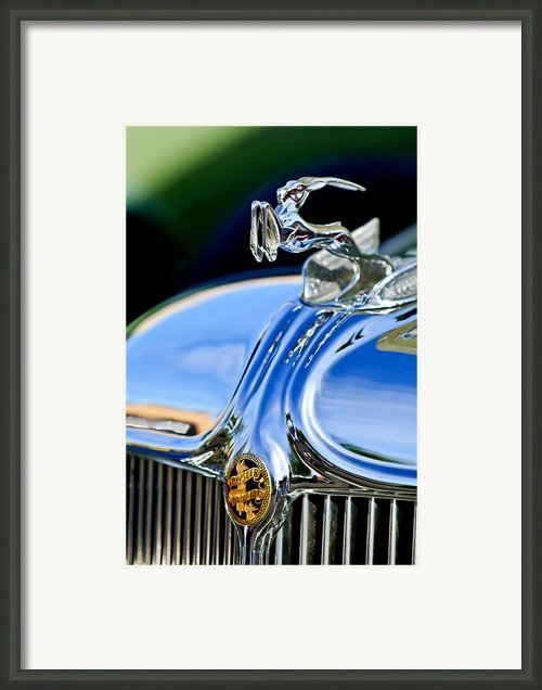 1933 Chrysler Imperial Hood Ornament 3 Framed Print By Jill Reger