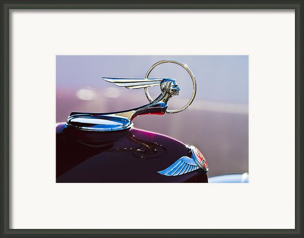 1933 Pontiac Hood Ornament Framed Print By Jill Reger