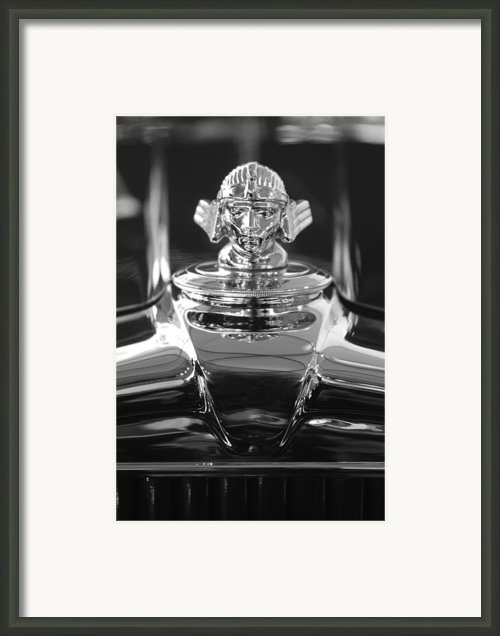 1933 Stutz Dv-32 Hood Ornament 4 Framed Print By Jill Reger