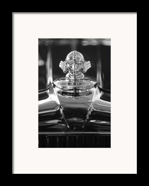 1933 Stutz Dv-32 Hood Ornament 4 Framed Print By Jill Reger