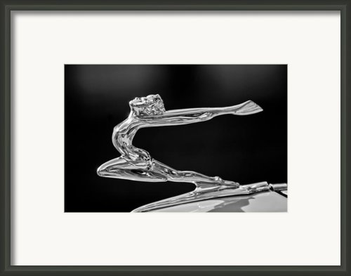 1934 Buick Goddess Hood Ornament 2 Framed Print By Jill Reger
