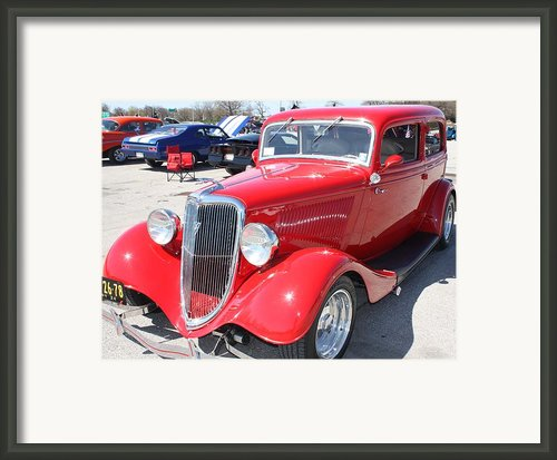 1934 Ford Greyhound Two Door Sedan Framed Print By John Telfer