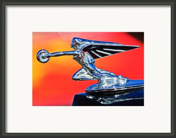 1935 Packard Hood Ornament 2 Framed Print By Jill Reger