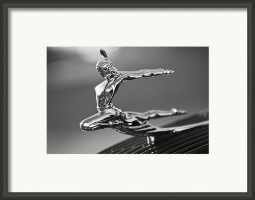 1935 Pontiac Sedan Hood Ornament 4 Framed Print By Jill Reger