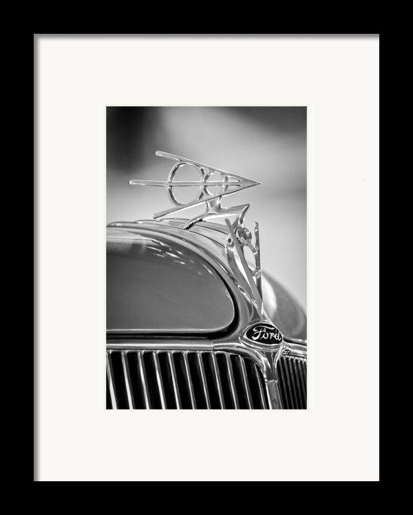 1936 Ford Deluxe Roadster Hood Ornament 2 Framed Print By Jill Reger