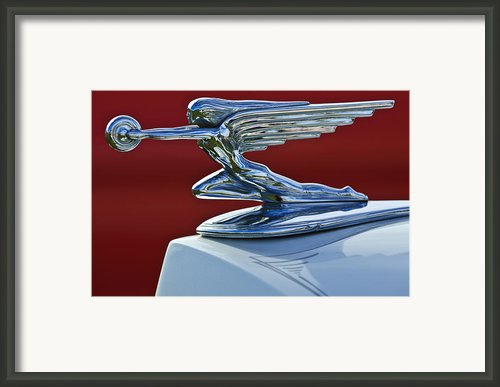 1936 Packard Hood Ornament 2 Framed Print By Jill Reger