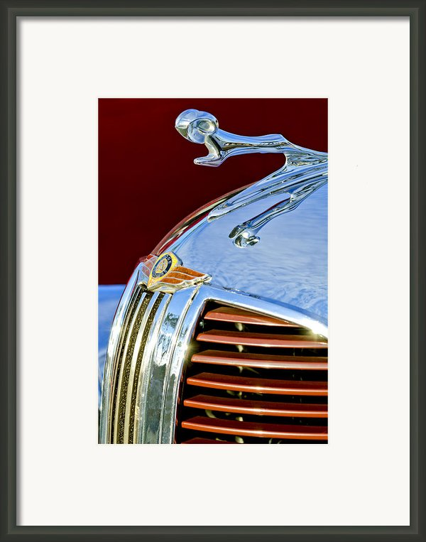 1938 Dodge Ram Hood Ornament 3 Framed Print By Jill Reger
