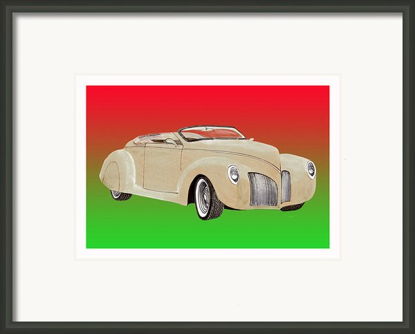 1939 Lincoln Zephyr Speedster Framed Print By Jack Pumphrey