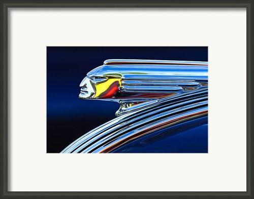 1939 Pontiac Silver Streak Chief Hood Ornament 3 Framed Print By Jill Reger