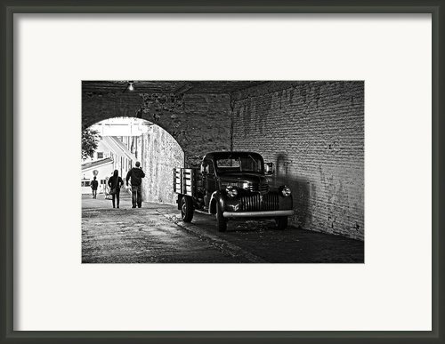 1940 Chevrolet Pickup Truck In Alcatraz Prison Framed Print By Ricardmn Photography