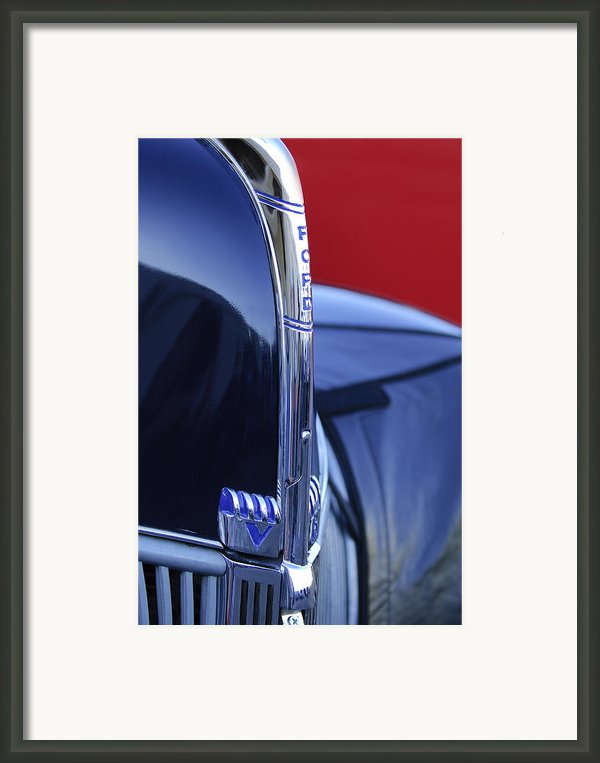 1940 Ford Hood Ornament 2 Framed Print By Jill Reger