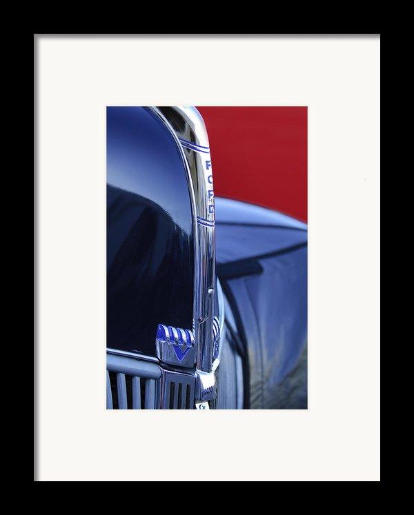 1940 Ford Hood Ornament 2 Framed Print By Jill Reger