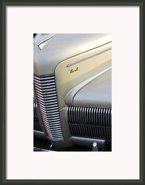 1940 Nash Grille Framed Print By Jill Reger