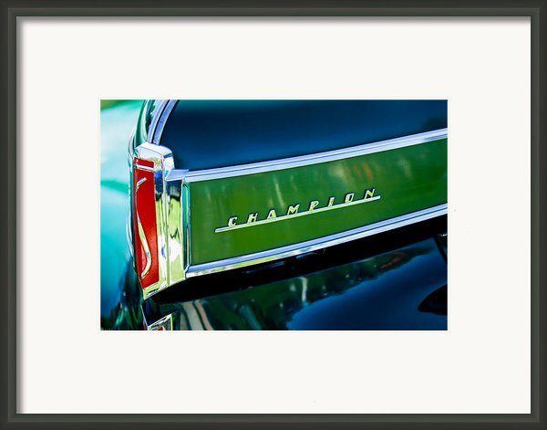 1941 Sudebaker Champion Coupe Emblem Framed Print By Jill Reger