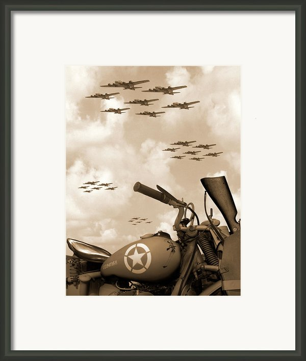 1942 Indian 841 - B-17s Framed Print By Mike Mcglothlen