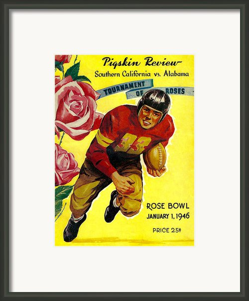 1946 Rose Bowl Program Framed Print By David Patterson