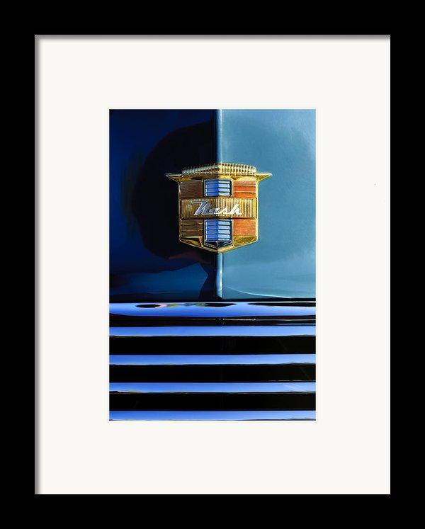 1947 Nash Surburban Hood Ornament Framed Print By Jill Reger